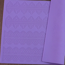 Free shipping 38*28CM 2015 Hot Selling BIG size Silicone Sugar Lace Mat Cake Decorating Fondant Mold Kitchen tool