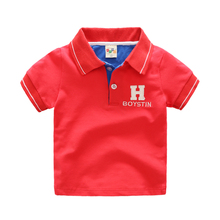 Children's All-match Short-sleeved T-shirt Baby Boy Tops Polo Shirt Kids Clothing Summer Fashion Simple Soft Cotton Boy T Shirt