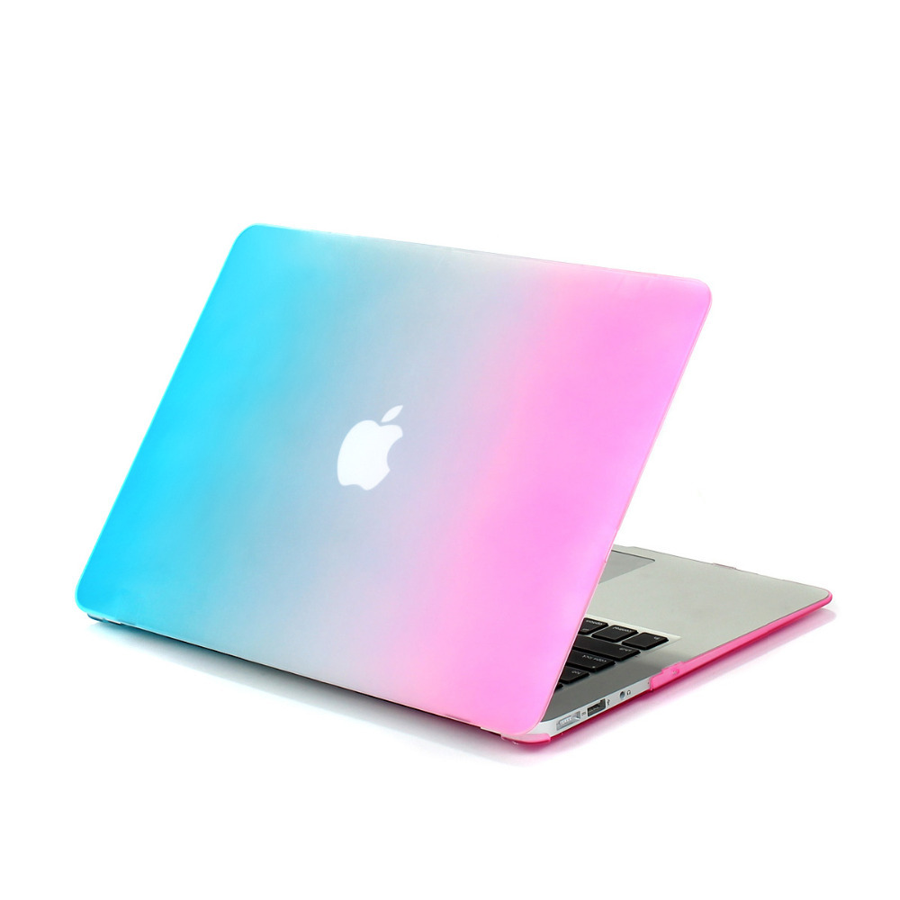 For apple air 13 Frosted Matte Ranbow color Laptop Hard Case Cover for pro 13 retina Rainbow Shell without logo<br><br>Aliexpress