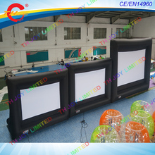 free air shipping,4:3 or 16:9  Outdoor Home Theater Inflatable Screens,Giant Inflatable Movie Screens for Advertising