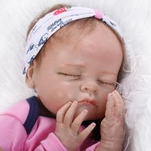 Real solid silicone reborn dolls babies soft touch lifelike bebe alive boneca children toys birthday gift