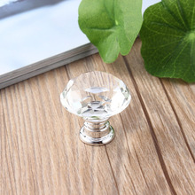 10 Pcs 30mm Diamond Shape Crystal Glass Door Handle Knob for furniture Drawer Cabinet Kitchen Pull Handles Knobs Handle Wardrobe