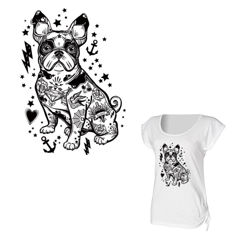 Pet Pug Bulldog Embroidery Applique Patches Clothes Sewing Supplies DIY Decor G