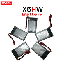 High Quality 3.7V 600mAh 25C Lipo Battery Part 5ni1 usb for SYMA X5HW Quadcopter Drone for rc drone Wholesale manufacturers toys(China)