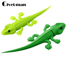 Usb flash drive Cartoon walllizard Pendrive Gecko usb flash memory stick 2gb 4gb 8gb 16gb 32gb 64gb USB Flash Memory Drive Stick(China)