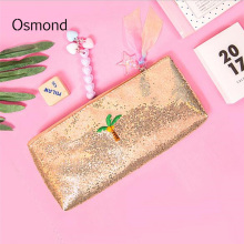 Osmond Summer Hologram Laser Makeup Bags Women Cosmetic Bag Zipper Travel Stationery Make-up Cases Sequined Pouch Lady Purses