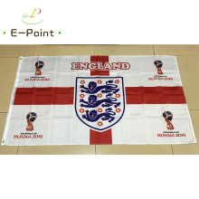 2018 Russia Football World Cup England National Team 3ft*5ft (90*150cm) Size Decoration Flag Banner