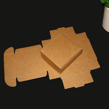 50pcs/lot 5.5x5.5x1.5/10x10x4/ 12.5x12.5x4cm kraft paper brown gift boxes handmade soap /jewelry/mooncake packing present box(China)