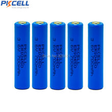 5 pcs 3.6V non-rechargeable battery  ER10450 10450 700mah capacity Li-SCLO2 primary battery in flat