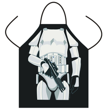 Funny STAR WARS Aprons Black/ White Warrior Apron Cartoon cosplay Party Bibs Darth Vader/ Storm Trooper wholesale Cooking Apron