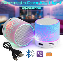 Portable Mini Bluetooth Speakers LED Wireless Small Stereo Sound Music Audio TF USB Light Speaker With Mic For Phone Xiaomi(China)