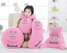 Plush toy 1pc bean papa sweet soft neck U pillow waist cushion blanket rest stuffed toy creative novelty gift for kids baby