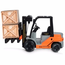 KAWO Inertial Sliding Model Car Inertia Internal Combustion Forklift Scale Fork Life with Pallets Large Toys For Kids Baby Boys