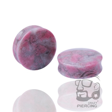 Fashion Body Piercing Jewelry Organic Flesh Tunnels Stone Ear Plugs Ear Gauges Stretcher