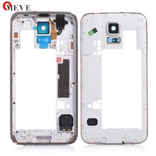 Original Free Shipping Middle Back Frame Chassis Plate Bezel Back Housing For Samsung Galaxy S5 i9600 G900F G900M G900H G900P(China)