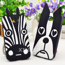 Lovely Cute 3D Dog Zebra Soft Silicon Case For HTC Desire 516 316 Phone Cover Case For HTC Desire 516 Silicone Back Cover Cases(China)