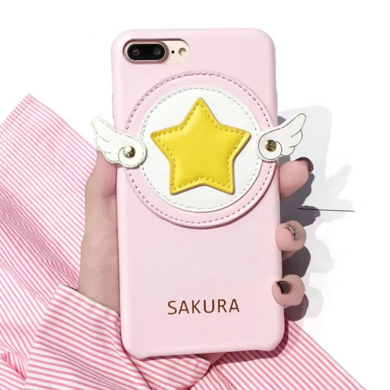 Costume Props 8 Or Plus Phone Case Star Magic Stick Prop Cosplay Cartoon Cute Pink Gift Professional Design Anime Jk Cardcaptor Sakura Kinomoto Iphone 7