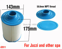 for pool Cartridge filter 2011 version, hot tub paper filter other spas, 175mmx43mm,50.8mm MPT thread