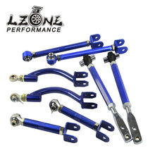 LZONE- CHASSIS COMPONENTS FOR 95-98 240SX S14 S15 CAMBER+TRACTION+TENSION+TOE FRONT REAR JDM SUSPENSION kits JR-9823+36+17+06