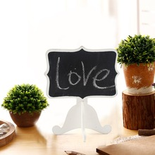 6pcs Wooden mini blackboard set For Wedding Party Decorations chalkboards/Message board/Teaching Stationery