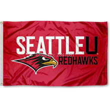 2 Color Seattle Redhawks Team College American Outdoor Indoor Baseball College Flag 3X5 Custom Any Flag