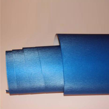 Brushed Alumium Blue color Vinyl Flex Wrap Sticker Film 1.52x30m/5x100ft with air free technology(China)