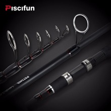Piscifun TRAVELLER Telescopic Spinning Fishing Rod 1.8M 2.1M 2.4M 2.7M 3M 3.6M Power Carbon Fiber Spinning Travel Rod 4-30g(China)