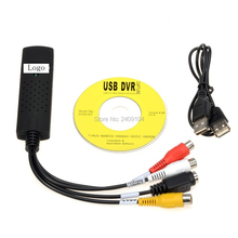 wholesale 50pcs/lot USB 2.0 Easycap tv dvd vhs video Capture adapter Easy cap card Audio AV mmm for vista win8 win7 XP