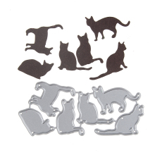 98*44.6mm Embossing Steel Many Cat Set Cutting Dies Stencils DIY Scrapbooking Card Album Photo Painting Template Metal Craft