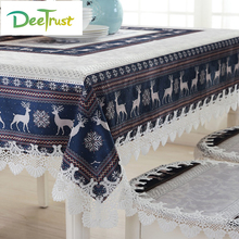 Lace Table Cloth Vintage European Style Deer Home/Outdoor/Party Elk Toalha De Mesa New Design Christmas Gift
