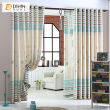 New Arrival Garden Fluid Linen/Cotton Cortina Curtains for Living Room Free Shipping(China)
