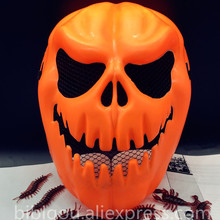 High Quality Pumpkin Skeleton Mask 2PCS Halloween Horror Ghost Masks Masquerade Party Face Whole Ghost Pumpkin Mask(China)