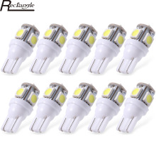 10pcs New Hot T10 W5W Wedge 5-SMD 5050 Car LED Light bulbs 192 168 194 2825 158 High Brightness White Tail Light Parking Lamp
