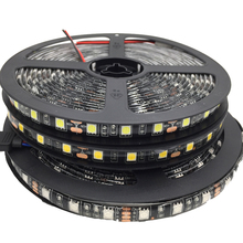 5050 Black PCB LED Strip IP65 Waterproof DC12V 60LED/m 5m/lot LED light LED Light White / Warm White / Red / Green / Blue / RGB(China)