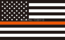 3x5ft Thin orange/yellow/green   Line striped black and white American Flag 90x150cm