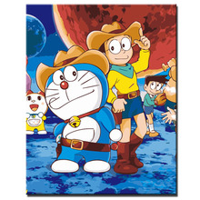 Anime Movie Doraemon Poster Oil painting picture by digital DIY Coloring by numbers canvas oil painting Home decoration painting