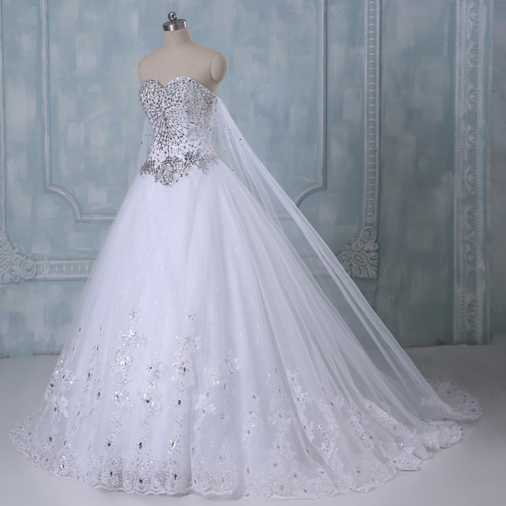 New Bandage Tube Top Crystal Luxury Wedding Dress Bridal gown wedding dresses vestido de noiva x71101 5