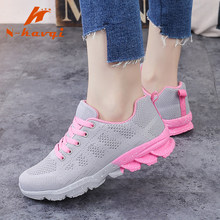 NKAVQI Fashion White Sneakers Women Mesh Breathable Women Casual Shoes Comfortable Increased Platform Sneakers Zapatillas Muje(China)