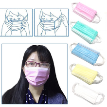 3-Ply Earloop 50pcs Medical Face Mouth Masks Dental Nail Health Disposable Anti-Dust urgical Medical Earloop Face Mask(China)