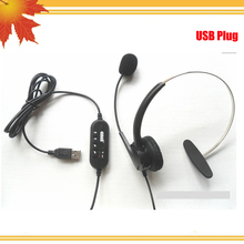 USB connector Telephone headset 5pcs/lot DHL freeshipping(China)