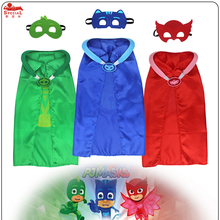 Special L27* P   J child cape mask costume party for birthday Christmas outfit girl dresses brand pj mask animal disfraz