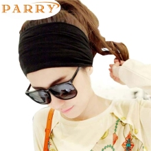 Newly Design Hair Accessory Full Vintage Wide Ribbon Headband Hair Band Bandanas Scarf New Fashion Party Black May12