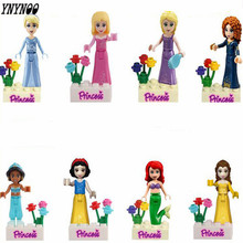 YNYNOO Friends Series Building Blocks Princess Figures Compatible with legoINGlys Friends For Girl 8pcs Lepine Bricks Toys(China)