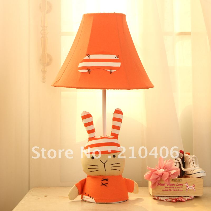 Cottage brief rustic child cartoon table lamp bedroom bedside lamp rabbit lighting<br><br>Aliexpress