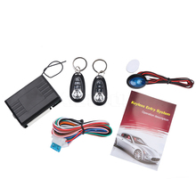New Universal Car Auto Keyless Entry System Remote Control Central push button/RFID engine Kit Door Lock Vehicle Hot Worldwide