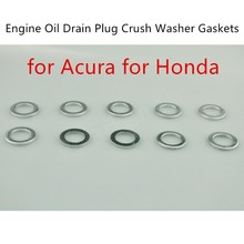 10 pieces new arrival hot sale Engine Oil Drain Plug Crush Washer Gaskets 94109-14000 for A/cura H/onda(China)