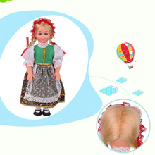 9.5inch Baby Ethnic Dolls Poland Girls Clothes Mini Girls Dolls Children's Vivid and Lively Dolls Best Gift For Kids 1009-001(China)