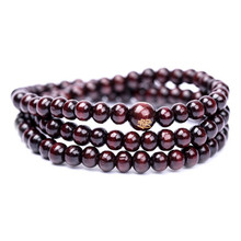 6mm*108 Natural Red Sandalwood Bead Prayer Japa Rosary Mala Bracelet Tibetan Buddhist meditation Wooden Rosary Beaded Bracelets