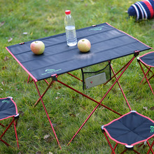 free shipping large size Picnic outdoor camping portable folding table Aluminum Alloy folding table stall fishing table chair