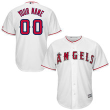 MLB Youth Los Angeles Angels Baseball White Custom Cool Base Jersey(China)
